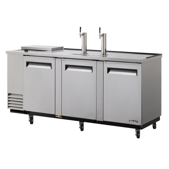 Turbo Air TCB-4SD, 90-inch Stainless Steel Club Top Beer Dispenser - 4 Kegs