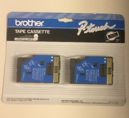 Brother P-touch TC-33 Tape Cassette - 2 Pack - 12mm - 1/2