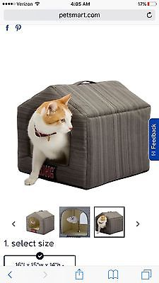 Kong Striped Enclosed Cat Kitten Pet Bed House New