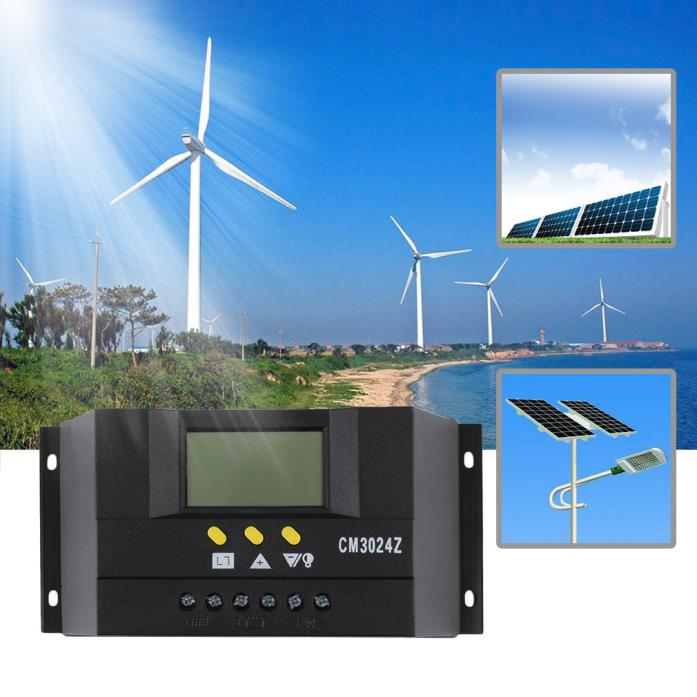 LCD 30A 12V/24V Solar Panel Controller Regulator Charge Battery ProtectionYX