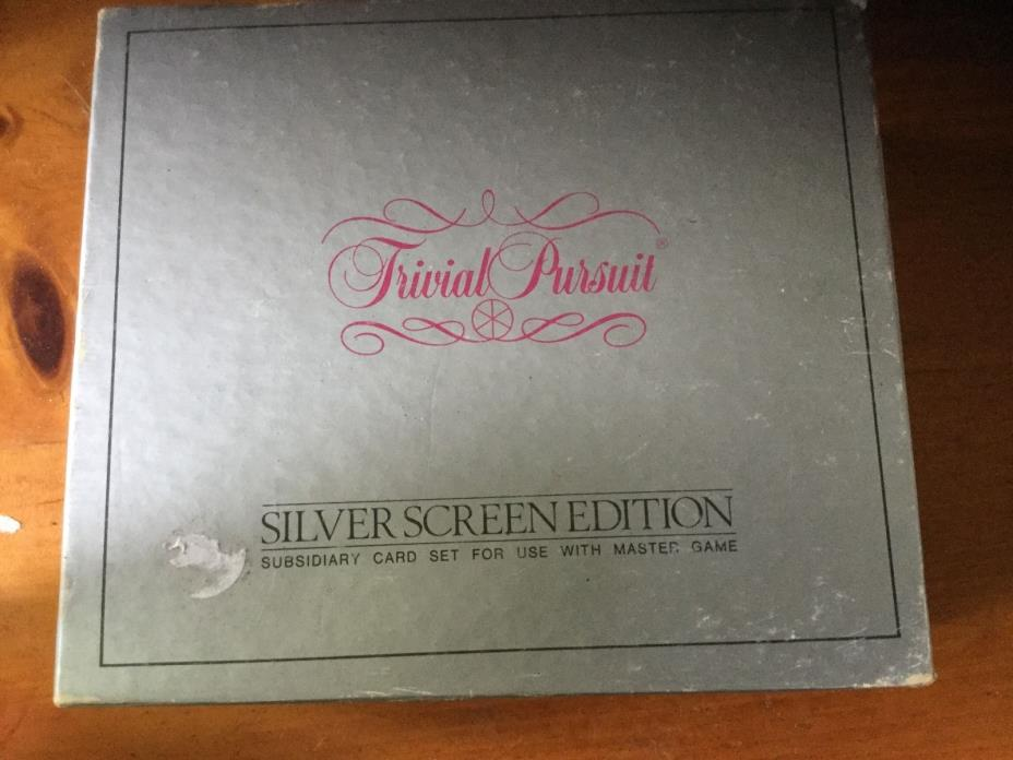 Trivial Pursuit *** Cards ONLY *** 200 Total - Silver Screen Edition
