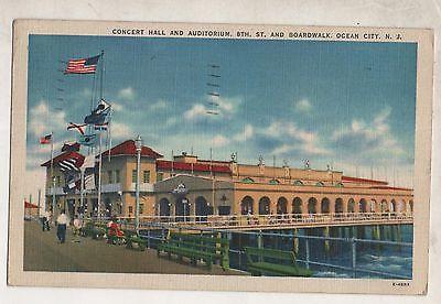 Vintage 1944 Postcard - Concert Hall, 8th St & Boardwalk, Ocean City, New Jersey