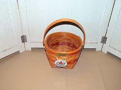 LONGABERGER 1994 CHRISTMAS COLLECTION RED JINGLE BELL BASKET