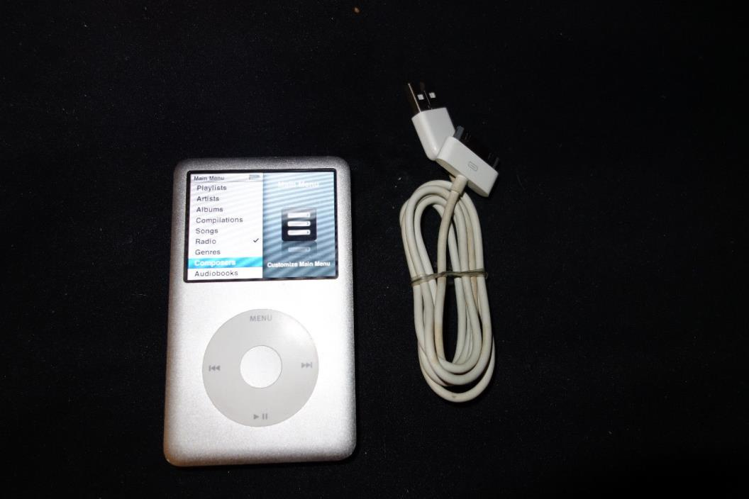 Apple iPod classic 6th Generation Silver (160GB) Excellent Condition