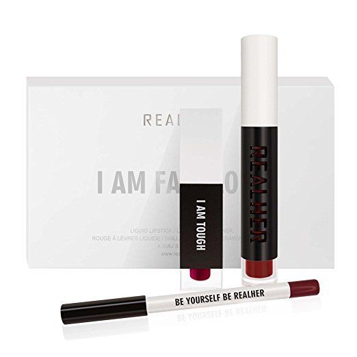 REALHER Deep Red Lip Kit - I AM FABULOUS