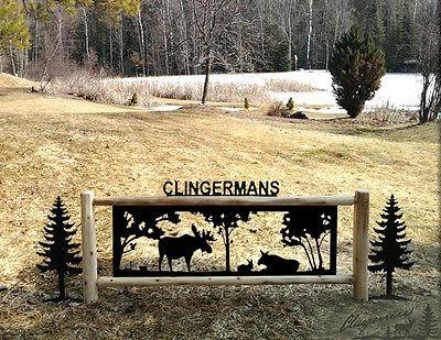 MOOSE-CLINGERMANS SIGNS-WILDLIFE ART-RUSTIC LOG DECOR-LODGE DECOR #MO15474