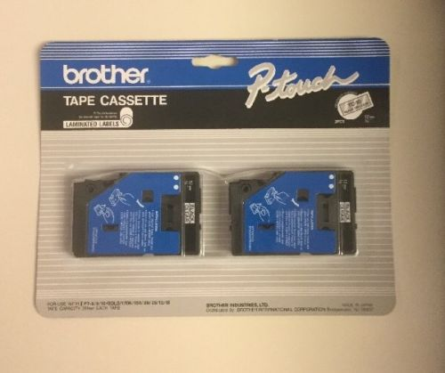 Brother P-touch TC-10 Tape Cassette - 2 Pack - 12mm - 1/2