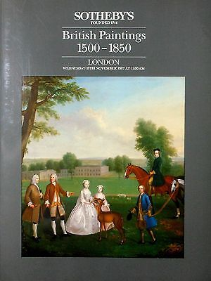 SOTHEBY'S, LONDON, Catalog, BRITISH PAINTINGS 1500 - 1850, 18 Nov. 1987, VF
