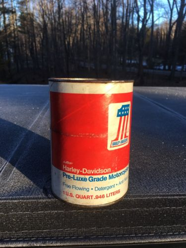 Harley Davidson Oil Can Red #1 Vintage Antique Motorcycle AMF Man Cave Display