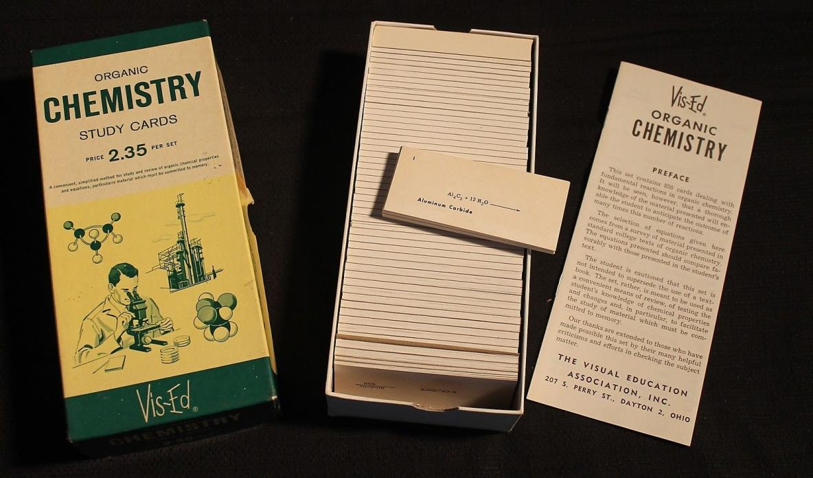 Organic Chemistry Study Cards by Vis-Ed (850 Flash Cards)