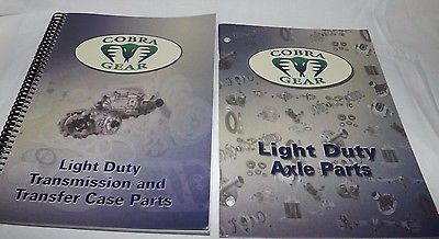 (2) COBRA GEAR Light Duty Transmission & Axle Parts Catalogs (Inter-Continental)