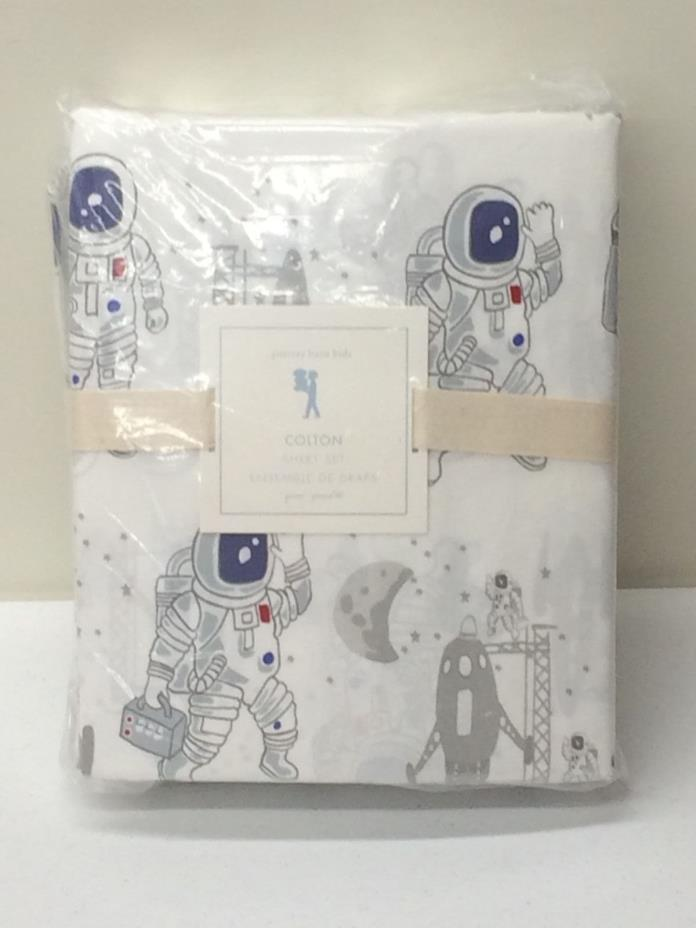 POTTERY BARN KIDS Colton Astronaut QUEEN Sheet Set w/Pillowcases, NEW - 2 Avail