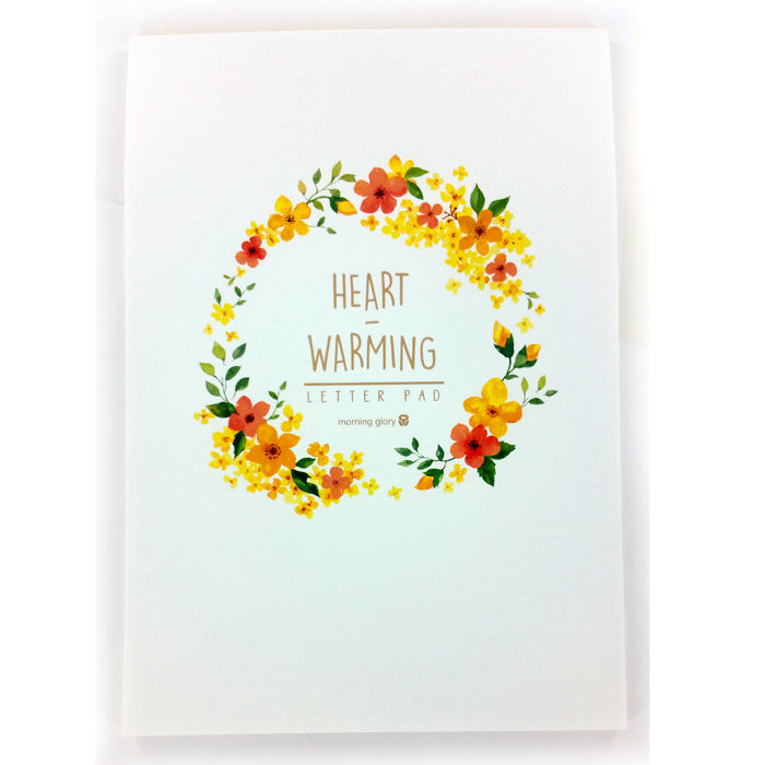 Heart Warming Letter Pad - Ring of Yellow, Orange, and Red Flowers