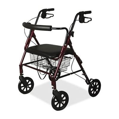 Medline Heavy Duty Bariatric Aluminum Rollator Walker with 8