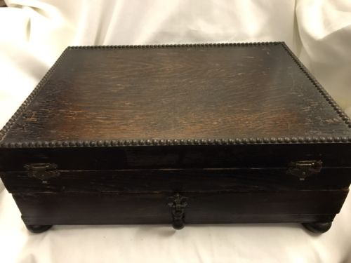 Vintage Oak Cutlery Box With Drawer