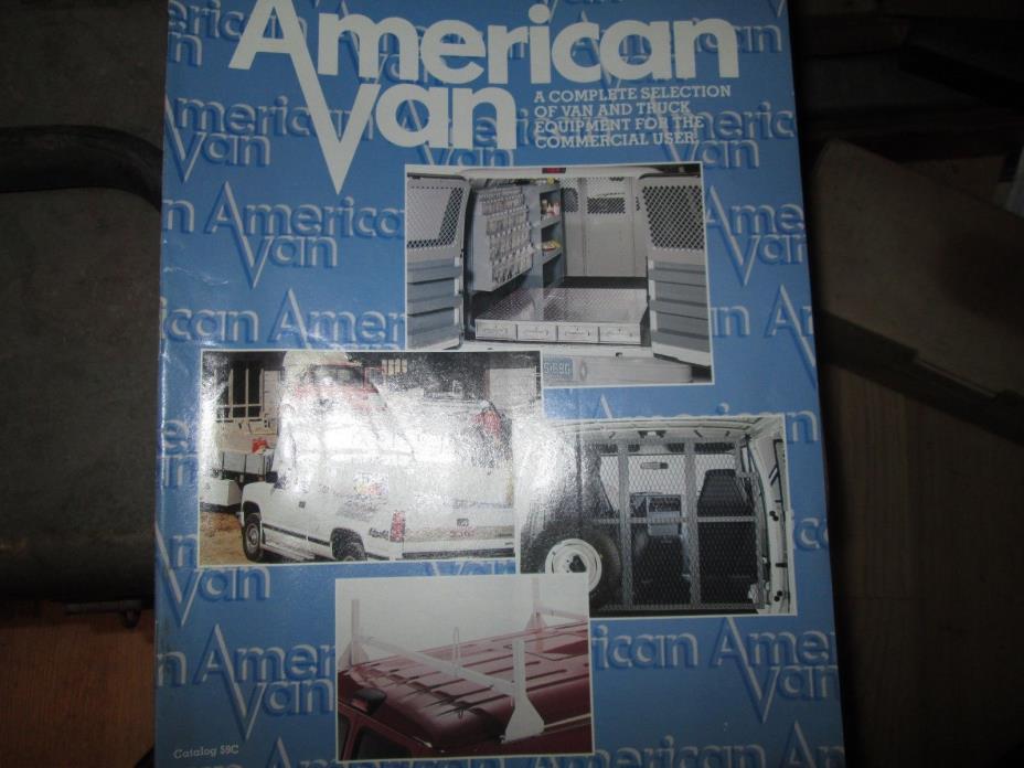Vintage American Van Catalog