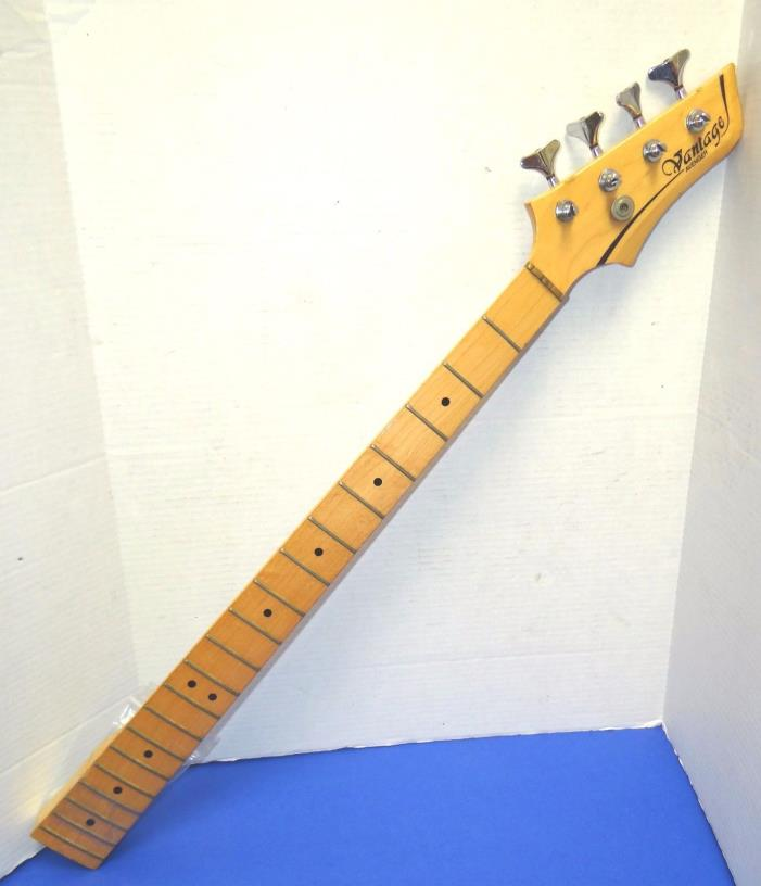 Vantage Avenger Bass Guitar Spare Neck - Maple with Chrome Hardware