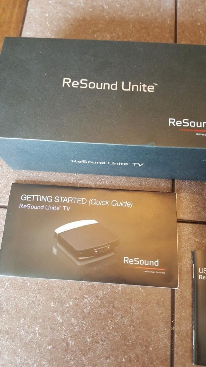 Resound Unite TV Streaming Sync With Resound Hearing Aids New Never Used