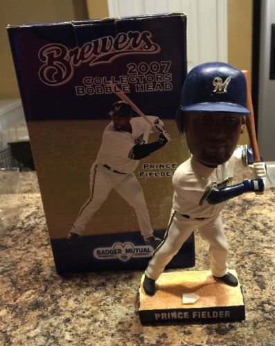 PRINCE FIELDER MILWAUKEE BREWERS BOBBLE HEAD 2007  ORIGINAL IN BOX