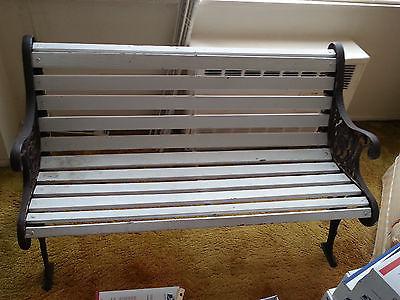 VINTAGE Iron Wood Bench Seat