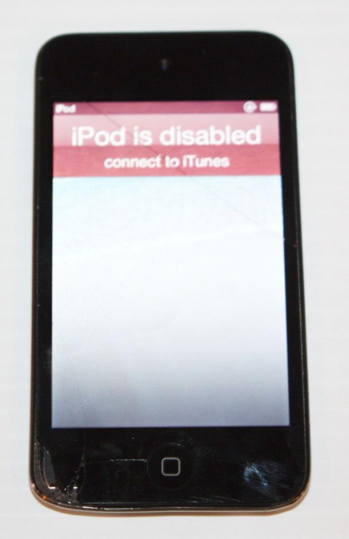 Apple iPod touch 4th Generation Black 8gb MC540LL--AS-IS/Broken/Cracked