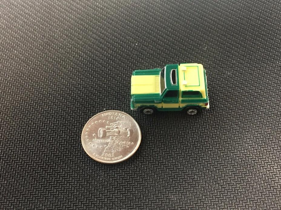 Micro Machines Chevy Blazer Insider Green and Yellow