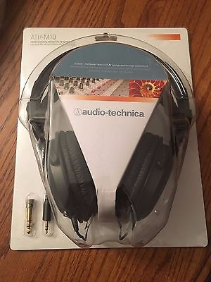 Audio-Technica ATH-M10 HEADPHONES - Black NEW IN PACKAGE/NEVER OPENED