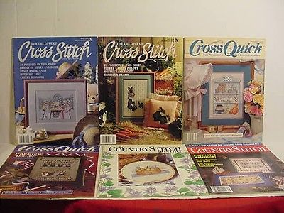Cross Stitch Magazines Needlepoint Patterns Cross 6 Volumes P271