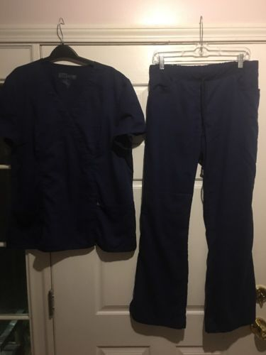 Grey's Anatomy Scrubs Navy Blue Top Size XL And Bottom Size Medium