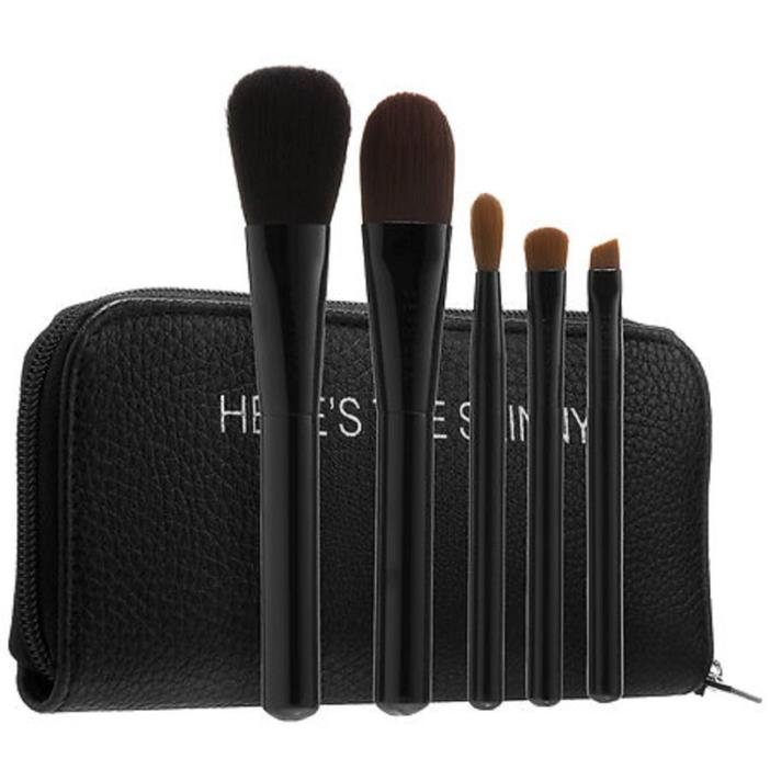 SEPHORA COLLECTION Here's The Skinny Brush Wrap *EXCLUSIVE* BNIP 5 Black Brushes