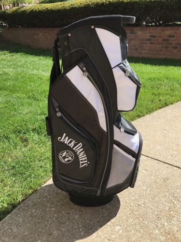 Jack Daniels Golf Cart White/Black Bag