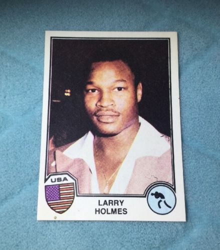 1982 PANINI LARRY HOLMES - ROOKIE CARD - SPORT SUPERSTARS BOXING CARD -- RARE --