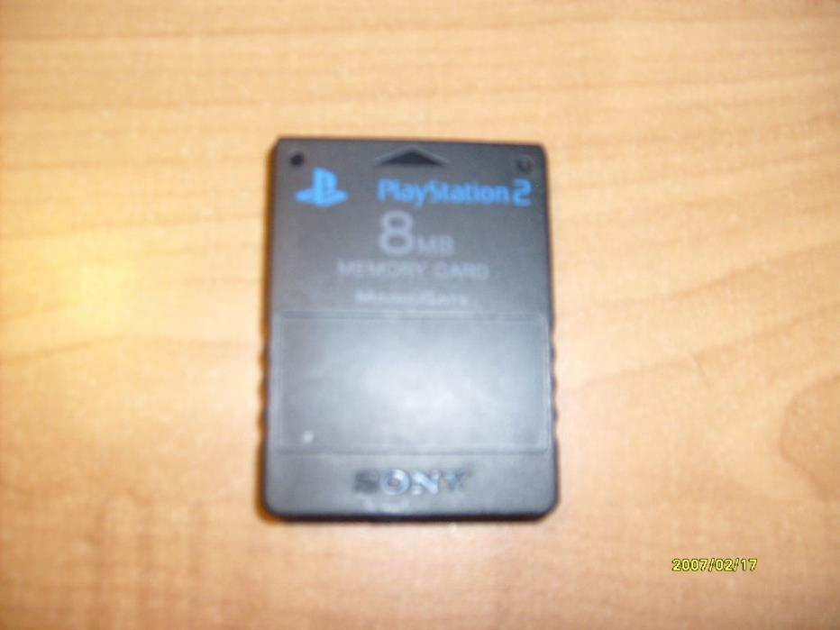 Sony Playstation 2 PS2 OEM 8 MB Memory Card, Black SCPH-10020