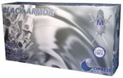 BLACK ARMOR Powder-Free Textured Nitrile Exam Gloves - Medium, 1000 Each / Case