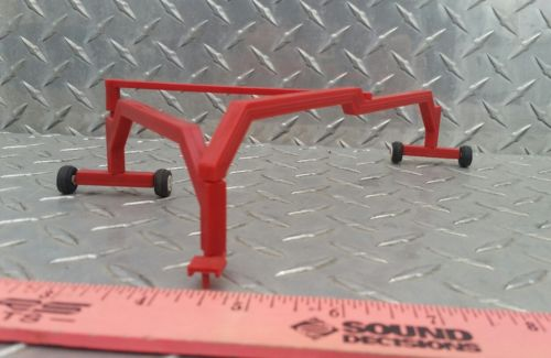 1/64 standi farm toy red triple grain drill planter rake hitch Plastic ertl