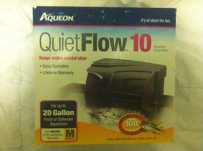 Aqueon Filters Fish Aquarium Pumps Clean Quiet Flow 10 Power Filter Water Safe
