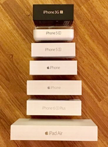 Lot Of 7 EMPTY iPhone Boxes Fast Shipping!