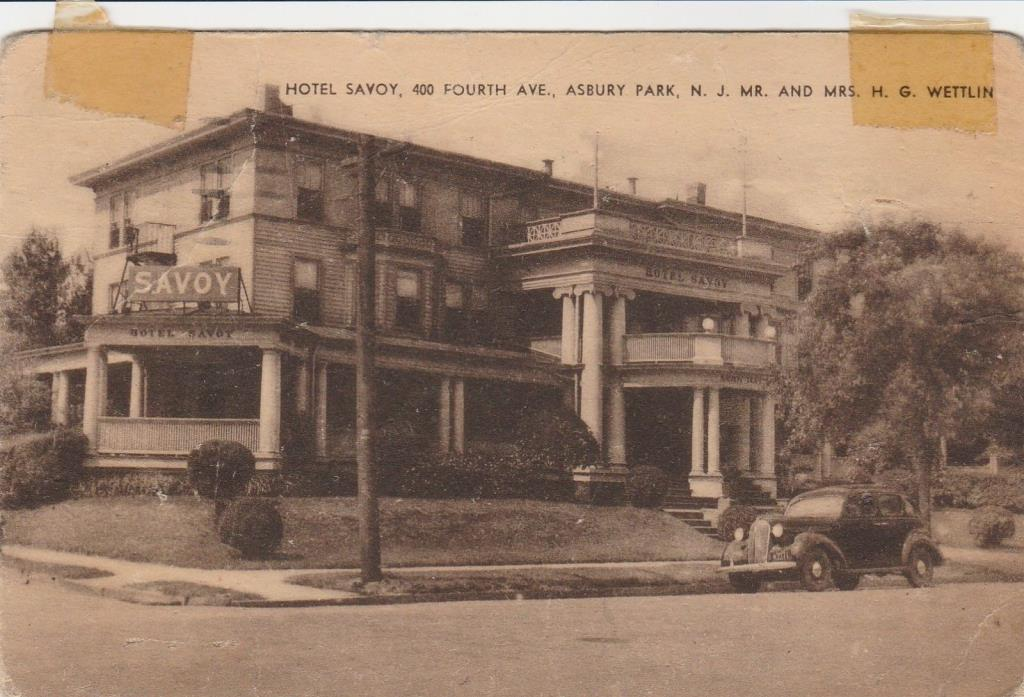 Asbury Park, NJ The Savoy Hotel on Fourth Avenue-Old Postcard