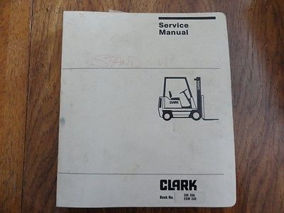 Clark forklift ESM 245 service manual.  Book no. SM 556 ESM 245