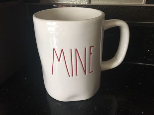 Rae Dunn Magenta MINE Mug New