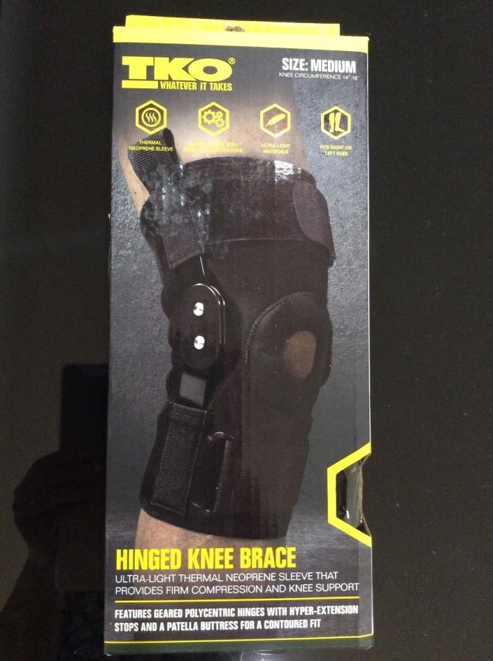 TKO Ultra-Light Knee Brace Neoprene Size M 14