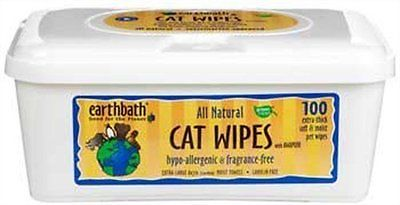 All Natural Hypo-Allergenic Cat Grooming Wipes, 100 Count, 2 Pack