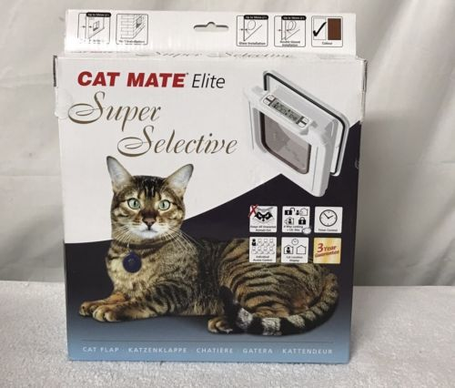 Cat Mate Elite Super Selective 2 I.D. Disc Cat Flap Timer Control Door
