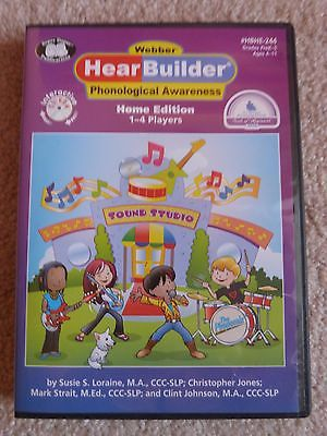 Webber HearBuilder Phonological Awareness Interactive Software CD Home Version