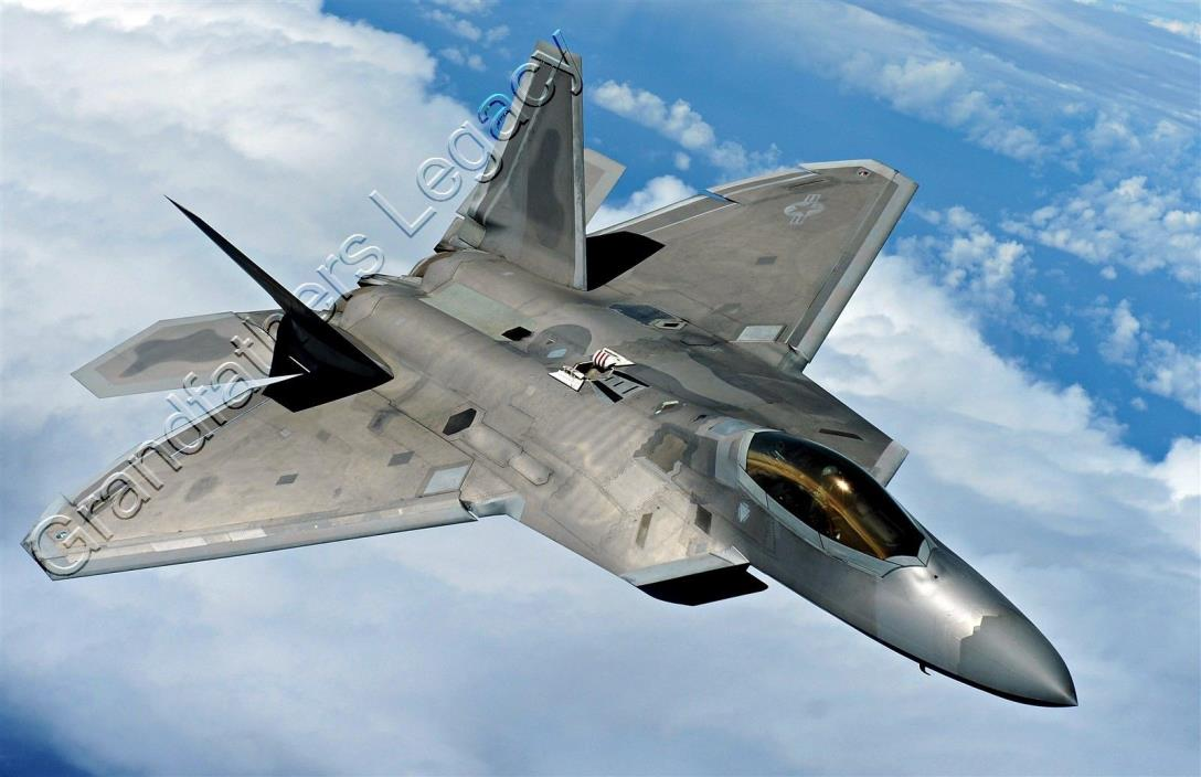 Lifetime Quality Giclée Print. F-22 Raptor over the Pacific. Size 11x17