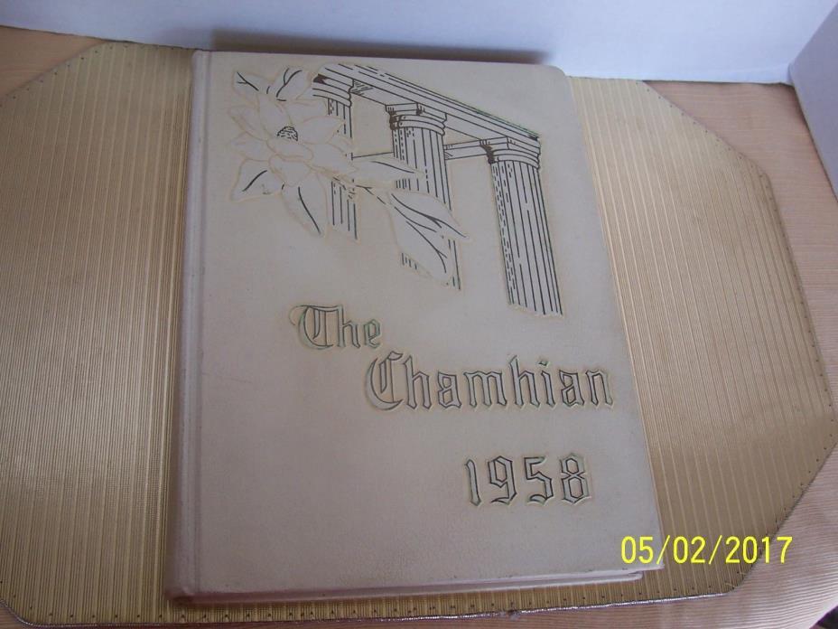 High School Yearbook Chamblee Georgia GA Chamblee High School Chamhian 1958