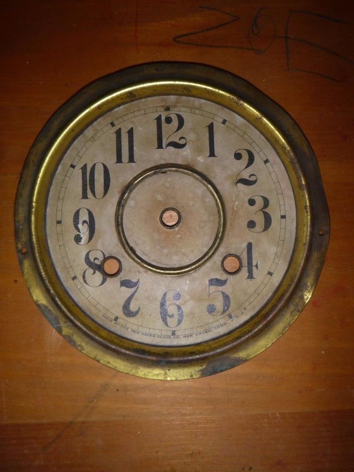Original New Haven Kitchen Parlor Mantle Shelf Clock Dial Part