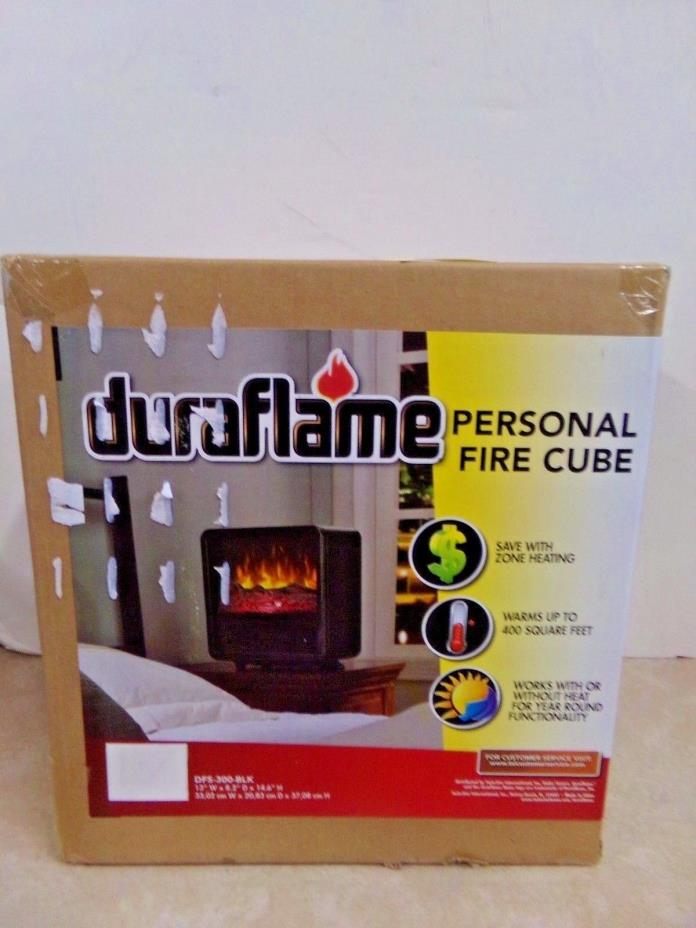 NEW DuraFlame Personal Fire Cube Heater DFS-300-BLK FREE Shipping!