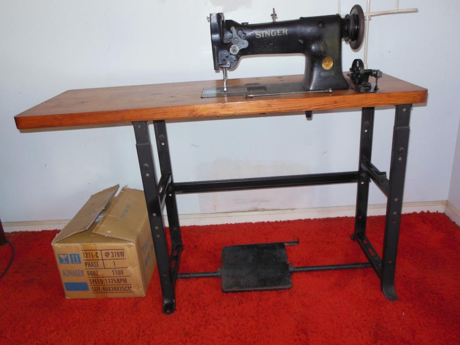 Singer 111W154 Industrial Walking Foot Sewing Machine with  Table and Motor