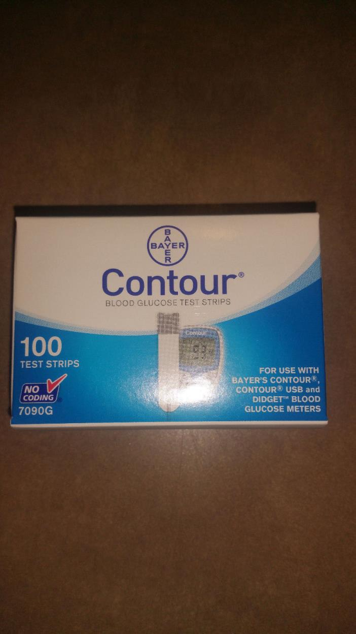 Bayer Contour, 7090G, 100 CT, NEW/unopened, exp 10/2017, FREE SHIPPING
